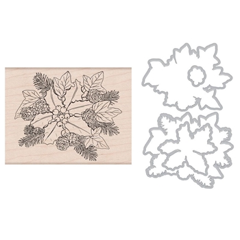 Hero Arts THE HOLLY AND IVY Rubber Stamp and Die Combo SB178
