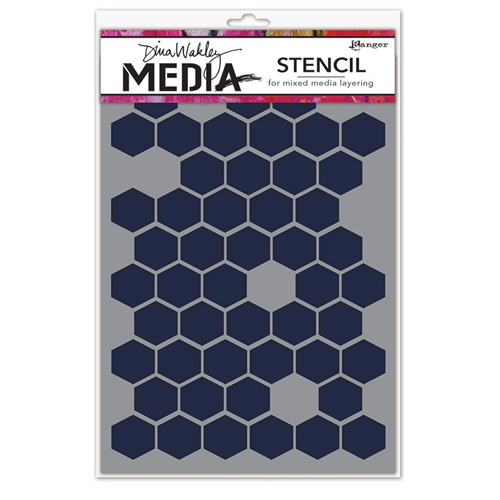 Dina Wakley HONEYCOMB Media Stencil MDS58250 Preview Image