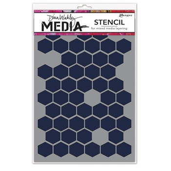 Dina Wakley HONEYCOMB Media Stencil MDS58250