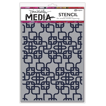 Dina Wakley LINKING PATTERN Media Stencil MDS58267*