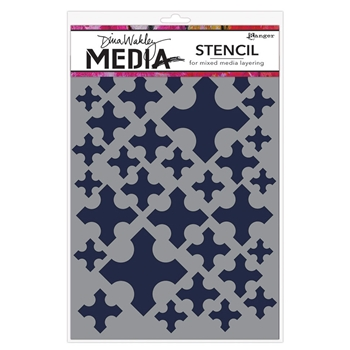 Dina Wakley MEDIEVAL CROSSES Media Stencil MDS58274