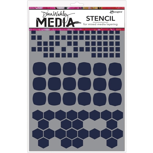 Dina Wakley SHAPE MASH UP Media Stencil MDS58298 Preview Image
