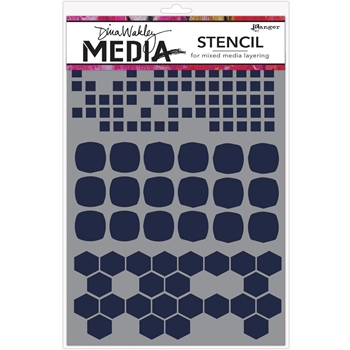 Dina Wakley SHAPE MASH UP Media Stencil MDS58298