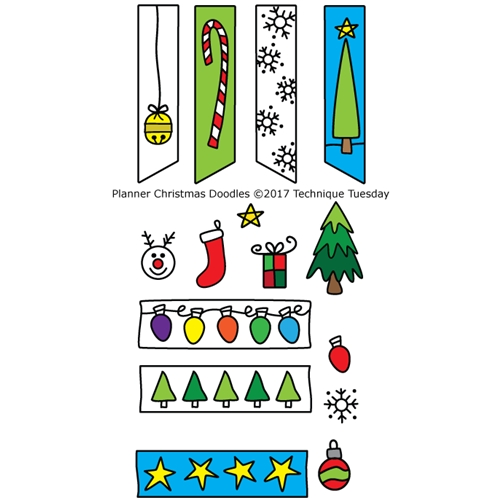 Technique Tuesday PLANNER CHRISTMAS DOODLES Clear Stamps 02555* Preview Image