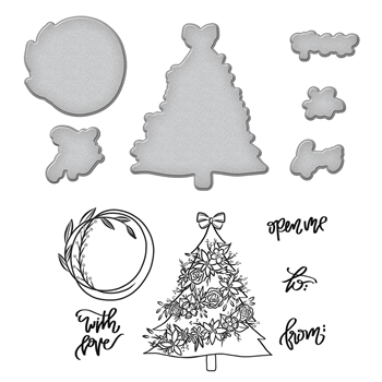 SDS-088 Spellbinders Stephanie Low TREE Cling Stamp and Die Set