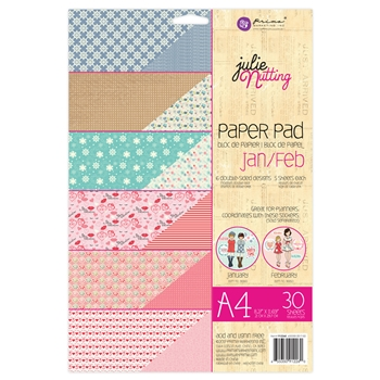 Prima Marketing A4 Paper Pad JANUARY & FEBRUARY Julie Nutting 912260
