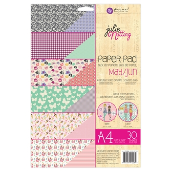 Prima Marketing A4 Paper Pad MAY & JUNE Julie Nutting 912284