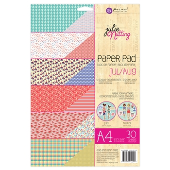 Prima Marketing A4 Paper Pad JULY & AUGUST Julie Nutting 912291