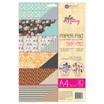 Prima Marketing A4 Paper Pad SEPTEMBER & OCTOBER Julie Nutting 912307