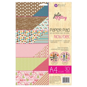 Prima Marketing A4 Paper Pad NOVEMBER & DECEMBER Julie Nutting 912314