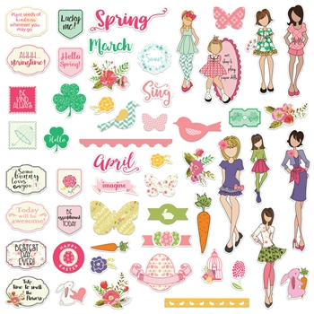 Prima Marketing MARCH & APRIL Ephemera Julie Nutting 912215