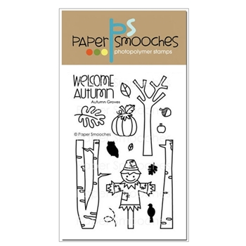 Paper Smooches AUTUMN GROVES Clear Stamps A2SC113