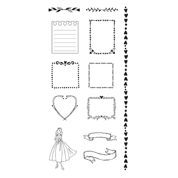 Prima Marketing FRAMES Mixed Media Doll Cling Stamps 912130