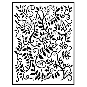 StencilGirl LOOPING LEAFY VINES BACKGROUND 9x12 Stencil L565