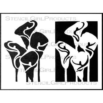 StencilGirl CALLA LILIES COLLECTION 9x12 Stencil L573