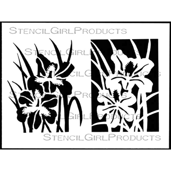 StencilGirl IRIS COLLECTION 9x12 Stencil L572