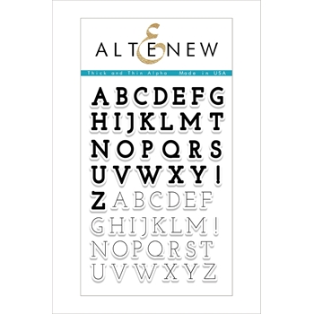 Altenew THICK AND THIN ALPHA Clear Stamp Set