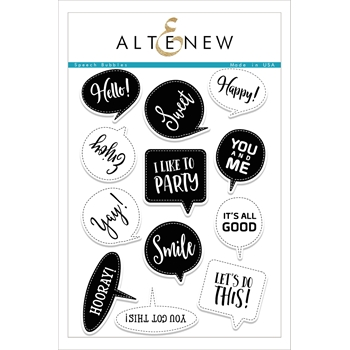 RESERVE Altenew SPEECH BUBBLES Clear Stamp Set