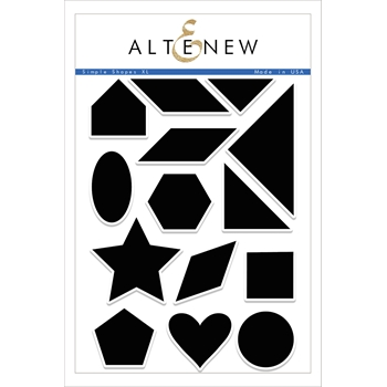 Altenew SIMPLE SHAPES XL Clear Stamp Set