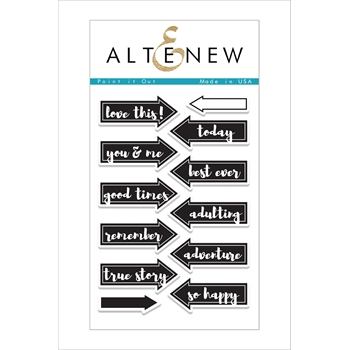 RESERVE Altenew POINT IT OUT Clear Stamp Set