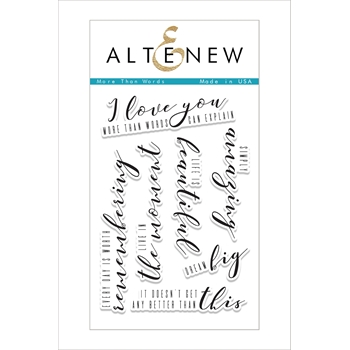 RESERVE Altenew MORE THAN WORDS Clear Stamp Set