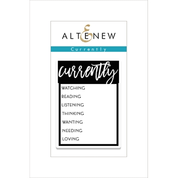RESERVE Altenew CURRENTLY Clear Stamp Set