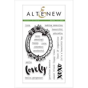Altenew SWEET FRIEND Clear Stamp Set