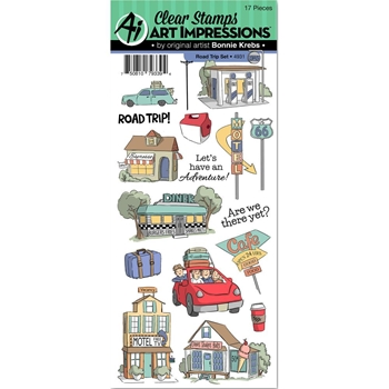 Art Impressions ROAD TRIP Clear Stamps 4931