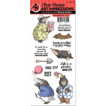 Art Impressions HOLY MOLEY Clear Stamps 4934