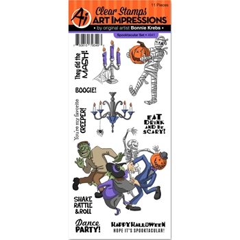 Art Impressions SPOOKTACULAR Clear Stamps 4941