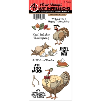 Art Impressions FULL OF THANKS Clear Stamps 4939