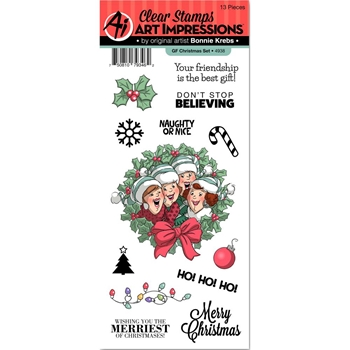Art Impressions GF CHRISTMAS Clear Stamps Girlfriends 4938
