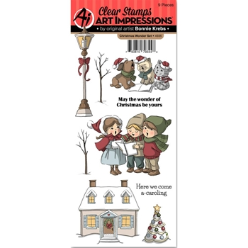Art Impressions CHRISTMAS WONDER Clear Stamps 4936