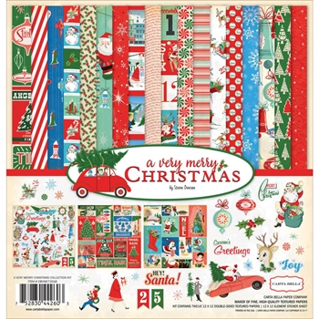 Carta Bella A VERY MERRY CHRISTMAS 12 x 12 Collection Kit CBVMC72016