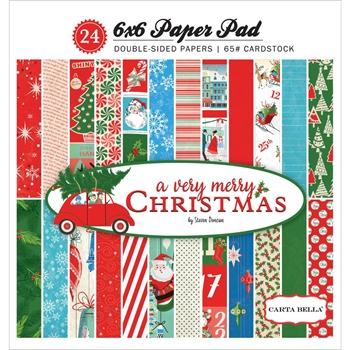 Carta Bella A VERY MERRY CHRISTMAS 6 x 6 Paper Pad CBVMC72015