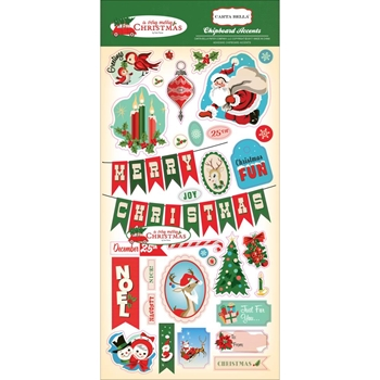 Carta Bella A VERY MERRY CHRISTMAS 6 x 13 Chipboard CBVMC72022