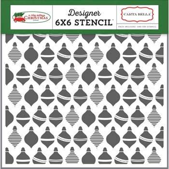 Carta Bella HOLIDAY ORNAMENTS 6 x 6 Stencil CBVMC72033