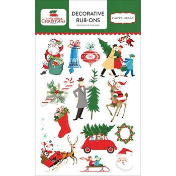 Carta Bella A VERY MERRY CHRISTMAS Decorative Rub-ons CBVMC72065
