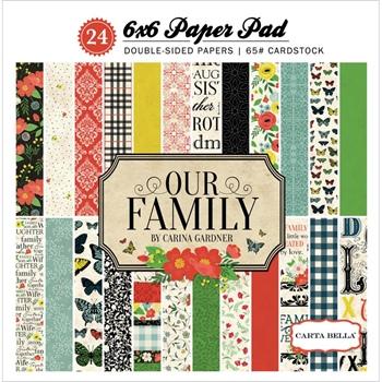 Carta Bella OUR FAMILY 6 x 6 Paper Pad CBOF75015