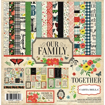 Carta Bella OUR FAMILY 12 x 12 Collection Kit CBOF75016
