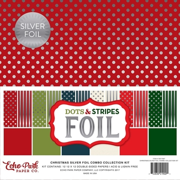 Echo Park SILVER CHRISTMAS FOIL COMBO 12 x 12 Collection Kit DSF17067