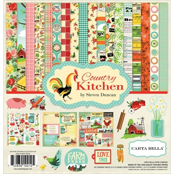 Carta Bella COUNTRY KITCHEN 12 x 12 Collection Kit CBCK76016