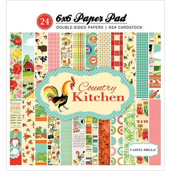 Carta Bella COUNTRY KITCHEN 6 x 6 Paper Pad CBCK76015