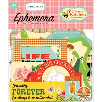 Carta Bella COUNTRY KITCHEN Ephemera CBCK76024