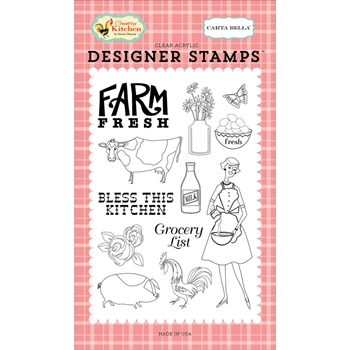 Carta Bella FARM FRESH Clear Stamp Set CBCK76041