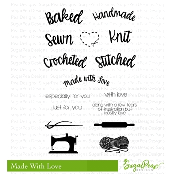 SugarPea Designs MADE WITH LOVE Clear Stamp Set SPD-00239