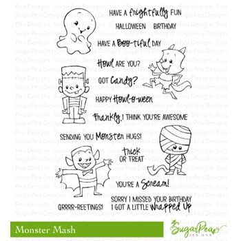SugarPea Designs MONSTER MASH Clear Stamp Set SPD-00241