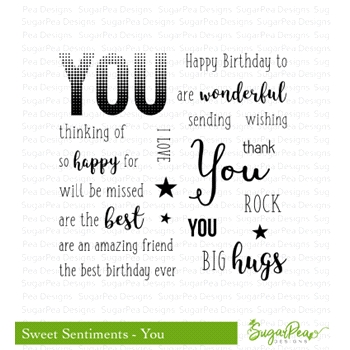 SugarPea Designs SWEET SENTIMENTS - YOU Clear Stamp Set SPD-00245