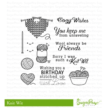 SugarPea Designs KNIT WIT Clear Stamp Set SPD-00247