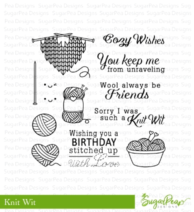 SugarPea Designs KNIT WIT Clear Stamp Set SPD-00247 zoom image